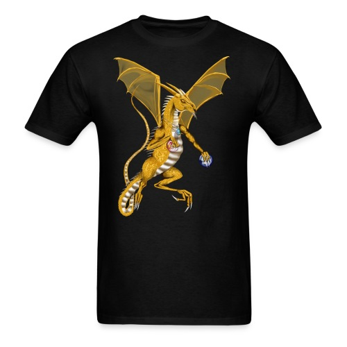 Jeweled Gold Dragon - Men's T-Shirt