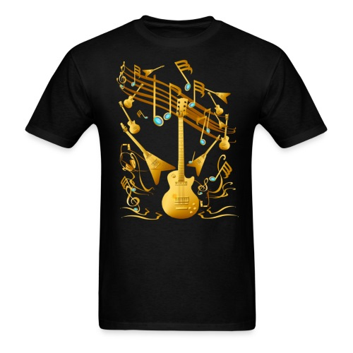 Gold Guitar Party - Men's T-Shirt