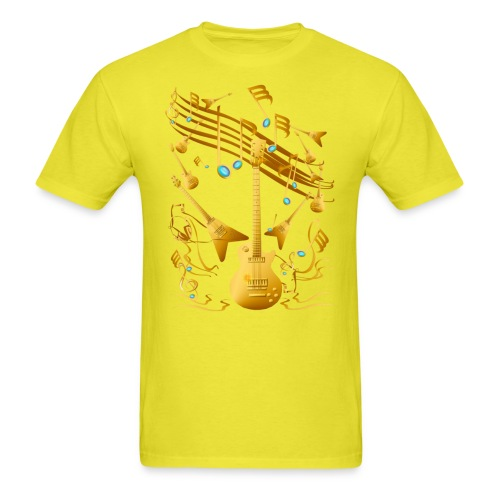 Gold Guitar Party - Men's T-Shirt