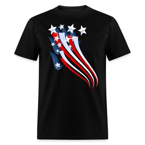 Sweeping American Flag - Men's T-Shirt