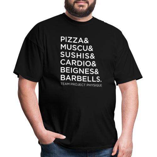 T-shirt Pizza et Donuts - T-shirt pour hommes