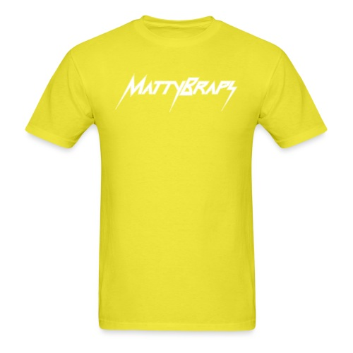 mattybrapslogo white - Men's T-Shirt