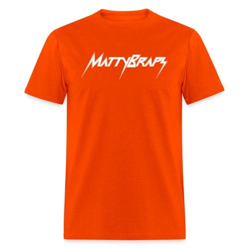 mattybrapslogo white - Men's T-Shirt