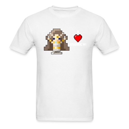 Time Goddess - I HEART Money (White text) - Men's T-Shirt