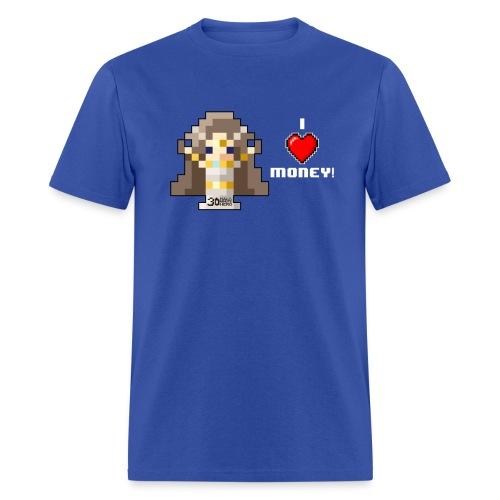 Time Goddess - I HEART Money (White text) - Men's T-Shirt