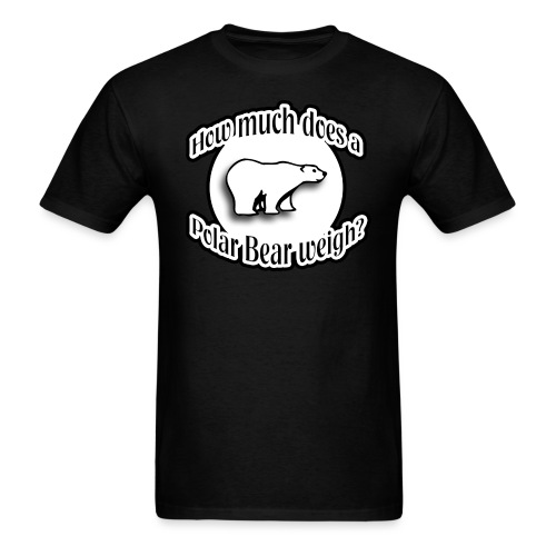 How Much Does A Polar Bear Weigh? - Men's T-Shirt