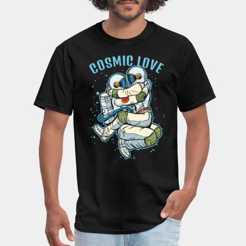 cosmic love astronaut space - Men's T-Shirt