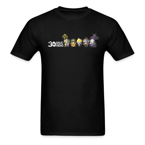 Half Minute Hero characters (White Logo) - Men's T-Shirt