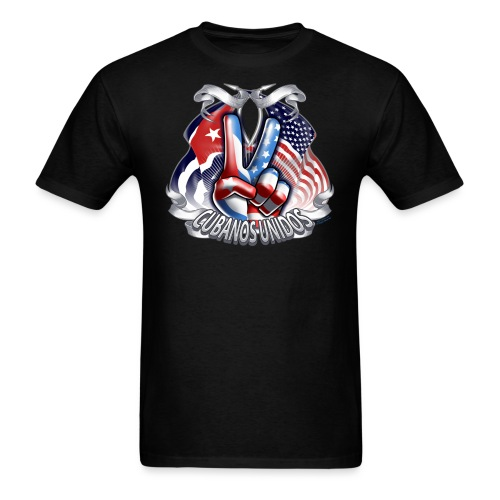 Cubanos Unido Peace by RollinLow - Men's T-Shirt
