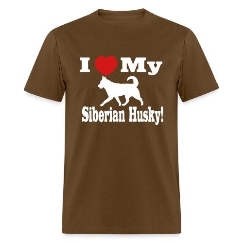 I Love my Siberian Husky - Men's T-Shirt