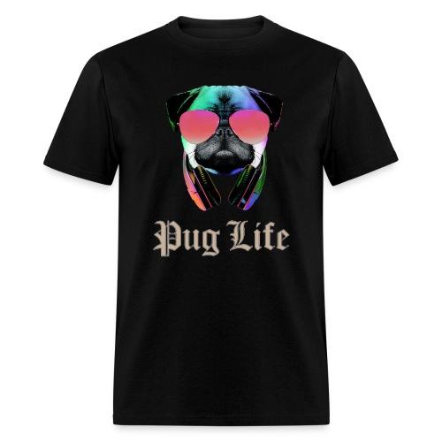 pug life funny tshirt for men - Men's T-Shirt