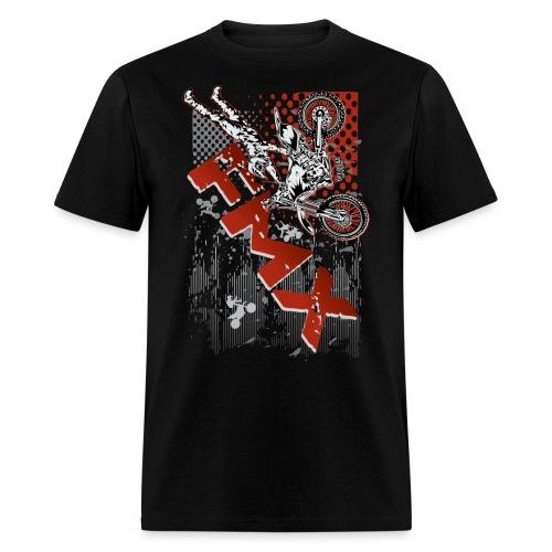 FMX Dirt Biker Red - Men's T-Shirt