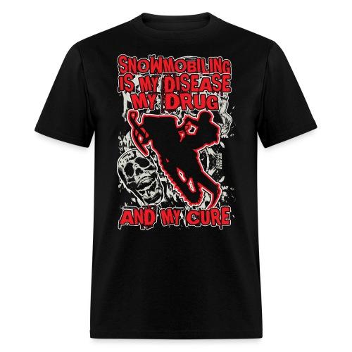 Snowmobile Drug Disease - Men's T-Shirt