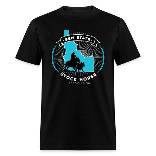 Turquose Sunburst Logo - Men's T-Shirt
