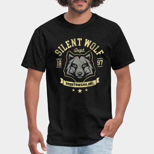 silent brave wolf t-shirt - Men's T-Shirt