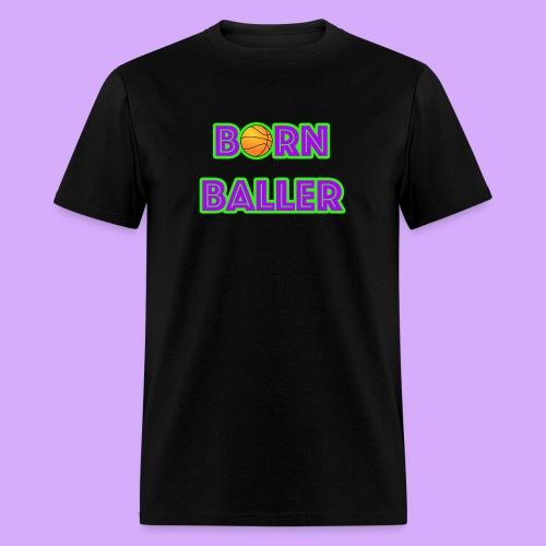 bornballerlogosmall png - Men's T-Shirt