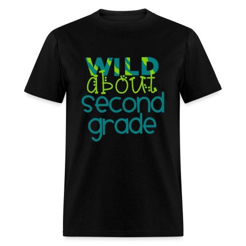 Wild About Second Grade Funky Teacher T-shirt - Men's T-Shirt