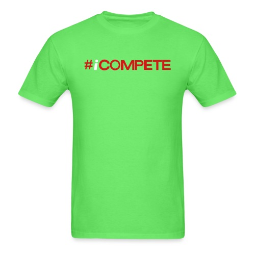 icompete_logo_final_outli - Men's T-Shirt
