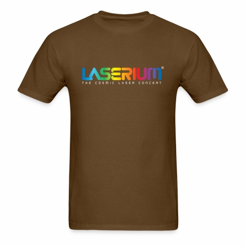 Laserium Logo Colors WhiteTag - Men's T-Shirt