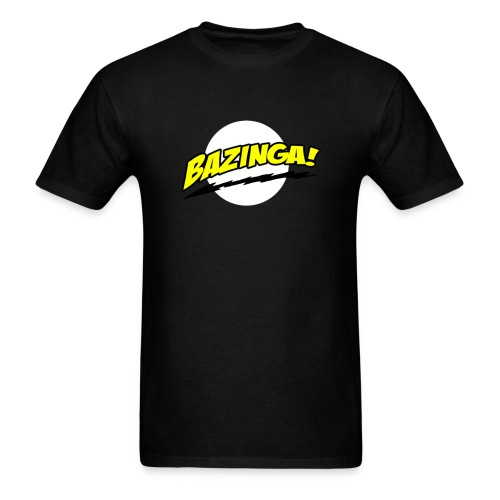 bazinga bolt yellow - Men's T-Shirt