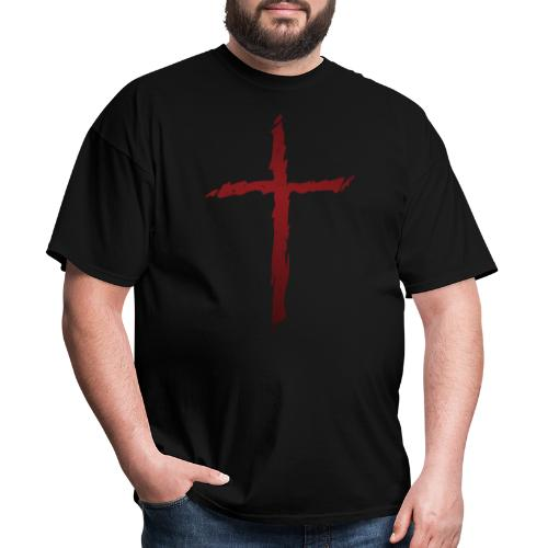 Old rugged distressed christian cross - Men's T-Shirt