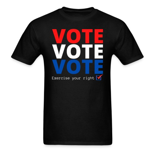 Vote Vote Vote Exercise Your Right - Check Box - Men's T-Shirt