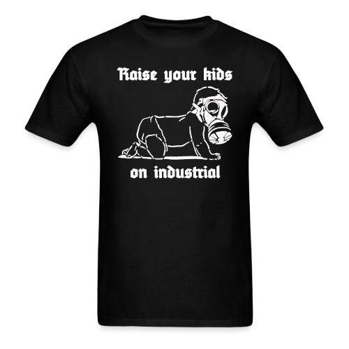 Industrial Baby (white) - Men's T-Shirt