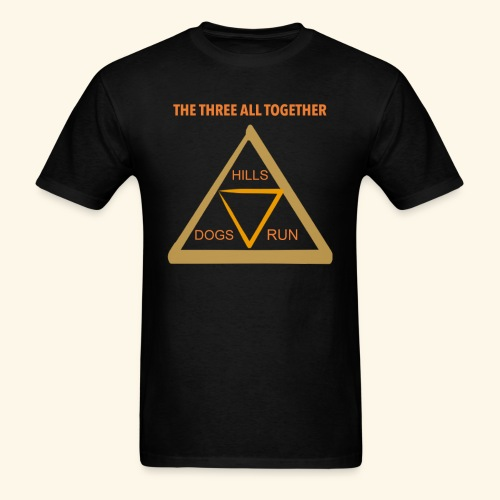 Run4Dogs Triangle - Men's T-Shirt