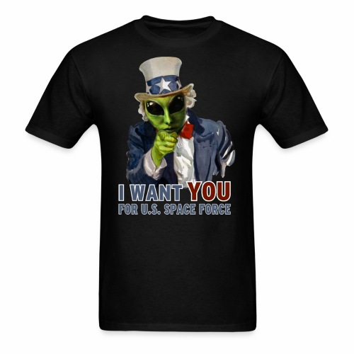 Alien Uncle Sam   Space Force T-Shirt - Men's T-Shirt