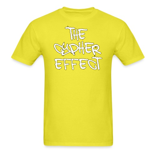 yellow outline tce2 png - Men's T-Shirt
