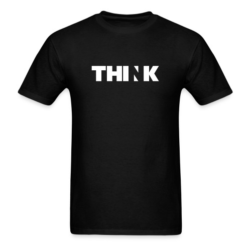 THINK (In White) - Men's T-Shirt