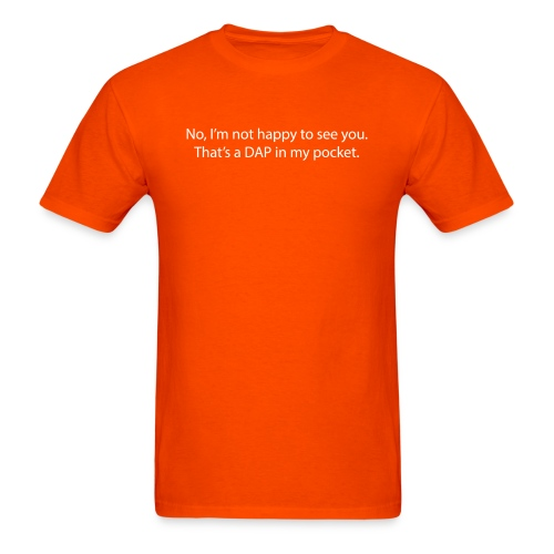 DAP pocket white - Men's T-Shirt
