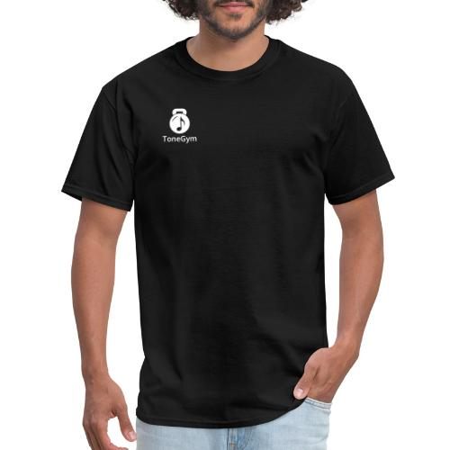 ToneGym Logo Black Square With Text - Men's T-Shirt