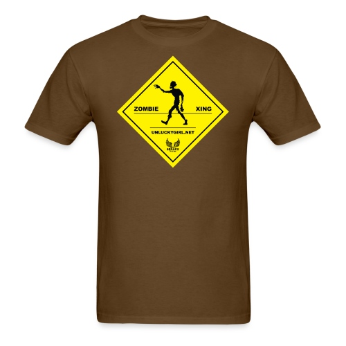 Zombie Crossing png - Men's T-Shirt