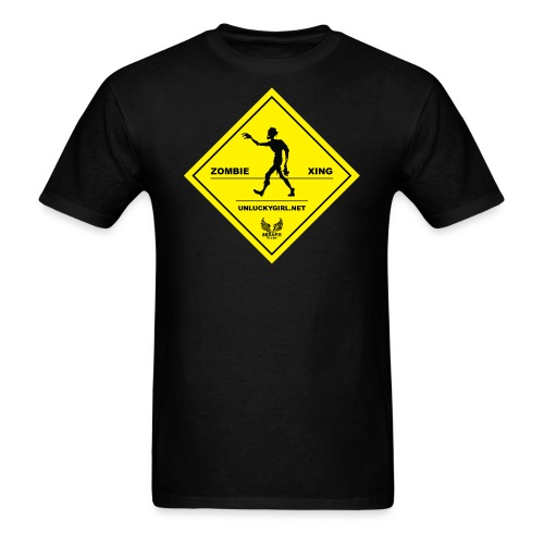 Zombie Crossing png - Men's T-Shirt