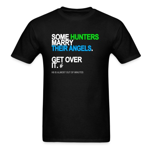 some hunters marry angels black shirt - Men's T-Shirt
