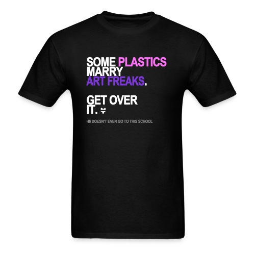 some plastics marry art freaks black shi - Men's T-Shirt