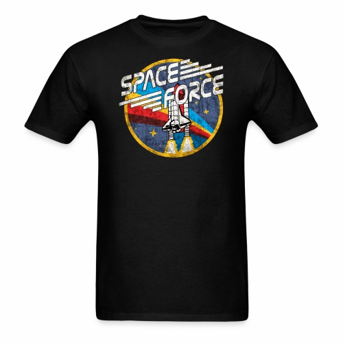 Shuttle Blast 'Distressed' | Space Force T-Shirt - Men's T-Shirt