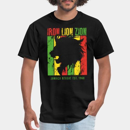 iron lion jamaica reggae - Men's T-Shirt