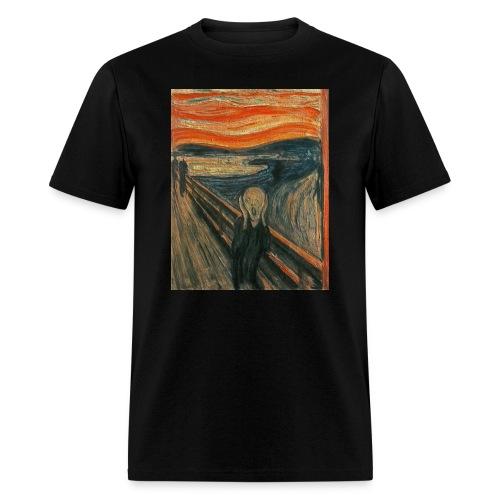 The Scream (Textured) by Edvard Munch - Men's T-Shirt