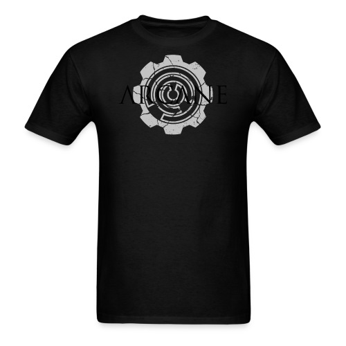 2 colour front black and grey cropped png - Men's T-Shirt