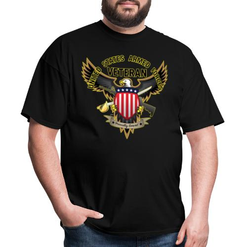 United States Armed Forces Veteran, Proudly Served - Men's T-Shirt