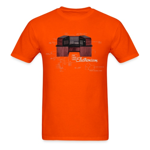 electronium logo composite REV5 Logo Below - Men's T-Shirt