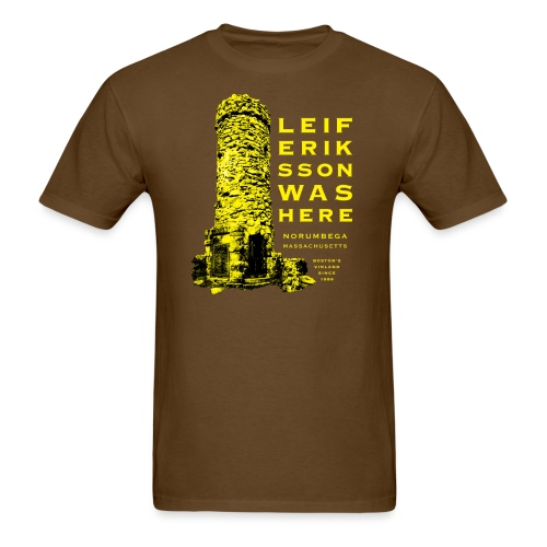 Leif Eriksson Was Here Double-Sided T-Shirt - Men's T-Shirt