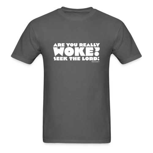 Are You Really Woke? Seek the Lord - Men's T-Shirt