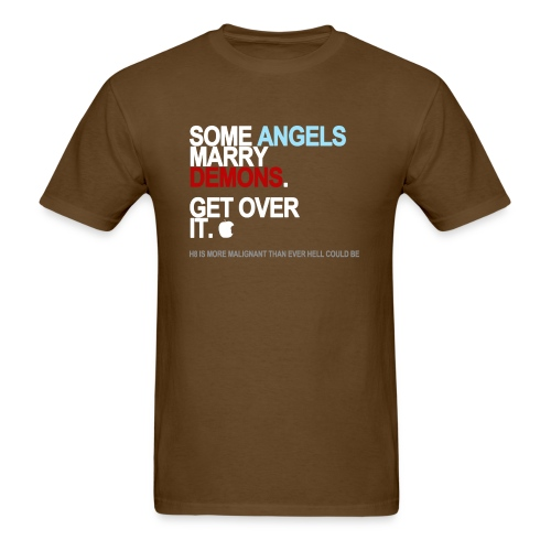 some angels marry demons black shirt - Men's T-Shirt