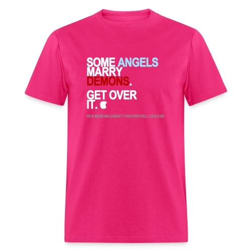 some angels marry demons black shirt - Men's T-Shirt