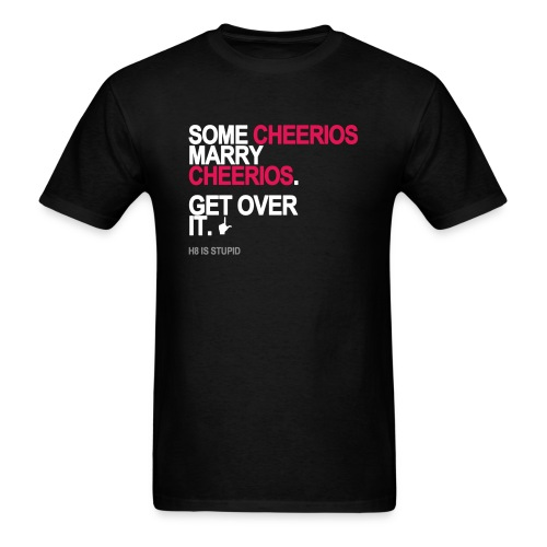 some cheerios marry cheerios black shirt - Men's T-Shirt