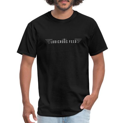 Ludicrous Feed Full Logo Light on Dark - Men's T-Shirt