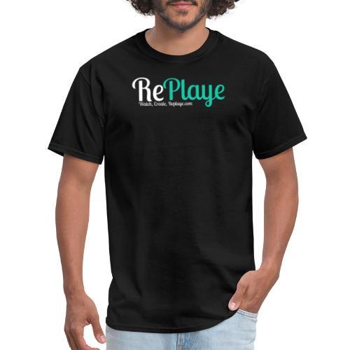 Replaye White on Black - Men's T-Shirt